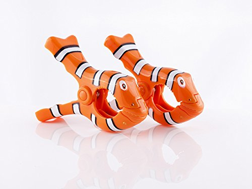 Boca Clips Serviette de plage CLOWN POISSON