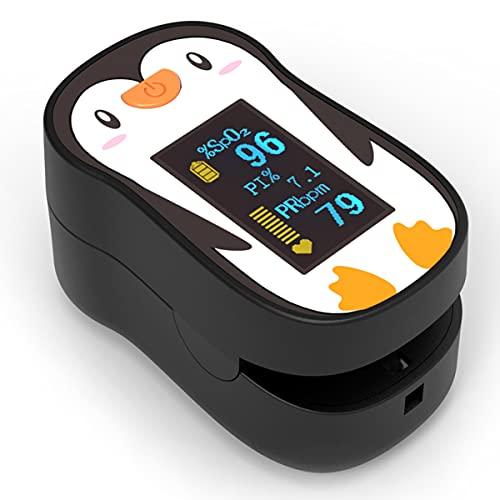 ACCARE Pulsoximeter für Kinder, Fingerpulsoximeter zur Messung des Puls und der Sauerstoffsättigung, Kinderpulsoximeter mit OLED Display und einfacher One-Touch Bedienung, Weiß, FS20P