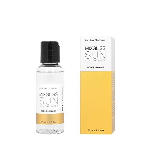MIXGLISS SUN, Premium 2-in-1 Massageöl und Gleitgel auf Silikonbasis, Monoi, 50ml