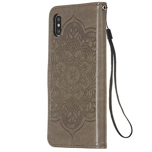 FAWUMAN Funda iPhone XS MAX(6.5 Inch),Funda Piel PU,Soporte Plegable,Ranuras para Tarjetas y...