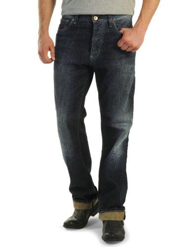 FREESOUL Jeans Hose Denim blau M5P-Loose Ziernähte 5-Pocket klassisch M5P-Loose P70222 (31/32)