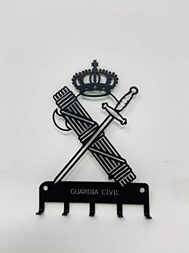 Colgador de llaves de pared de forja con el escudo de la Guardia Civil,llaves de coche, puerta de casa, decoración del hogar.
