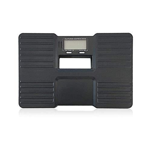 BINGFANG-W Discs Waage Digitale Personenwaage, tragbare Waage Mini Waage for Badezimmer Wiegen Elektronische Waage, Max 150kg Schwarz Abrasive