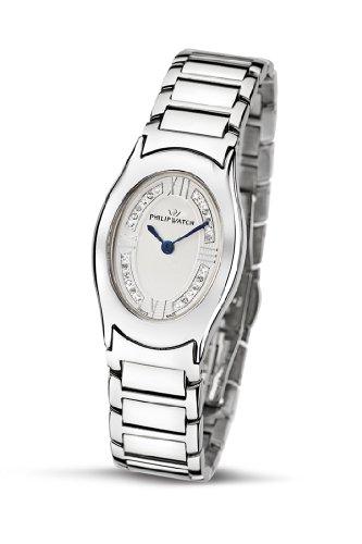 Philip Watch Diamonds R8253187615 - Reloj de Mujer de Cuarzo, Correa de Acero Inoxidable Color Plata