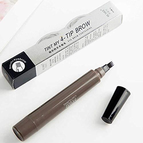 ZFXXN Microblading Tatouage Ressort Sourcils, Crayon à Sourcils Liquide avec Quatre Pics, Sourcils Tache étanche Durable Pen