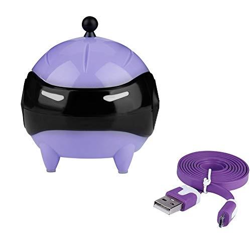 Heitune Tragbarer Kontaktlinsen Kugel Werkzeug USB Waschmaschine Automatische Reinigung Linsen-Reiniger (lila)