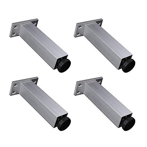 Aleaci/ón de aluminio cuadrado blanco 9cm F/ácil De Instalar Patas De Metal Para Muebles Patas Modernas Para Mesas Sof/á Sof/á