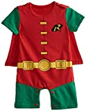 Bebkuebe Robin Cosplay Baby Costume, Cute Infant Toddler Onesie Cool Newborn Outfit Romper Cartoon Pajamas Clothes (Green, 9-12 Months)