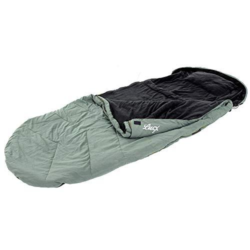 Lucx® Schlafsack Nightcat Sleeping Bag Angler zum Karpfenangeln & Nachtangeln, Angelschlafsack, Anglerschlafsack 5 Season Sleepingbag, Oliv Grün, 28x28x52cm