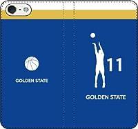 iPhone/Xperia/Galaxy/他機種選択可:バスケ/シルエット手帳ケース(フルカラー/アウェイ/ゴールデンステイト:11番_A) 07 iPhone8