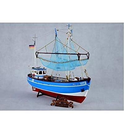 ZKRZ Maquette De Bateau De Pêche Modèle Le Modèle en Bois du Chalutier Europe du Nord