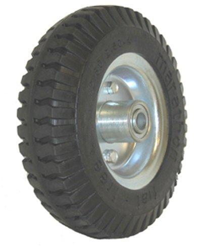 Marathon 2.80/2.50-4' Narrow Width Flat Free Hand Truck / Utility Cart Tire on Wheel, 3'Centered Hub, 1/2' Bearings