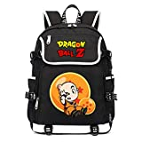 WANHONGYUE Dragon Ball Anime Cosplay Rucksack Schoolbag 15.6' Laptop Backpack with USB Charging Port Black / 9