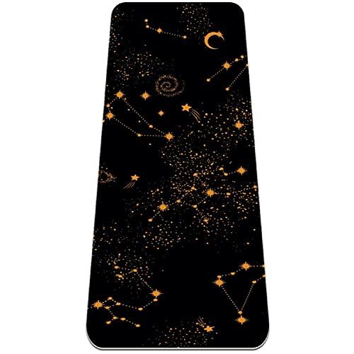 nakw88 Constellation - Esterilla de yoga antideslizante para yoga, pilates y ejercicios de suelo (183 x 60 x 6 mm)