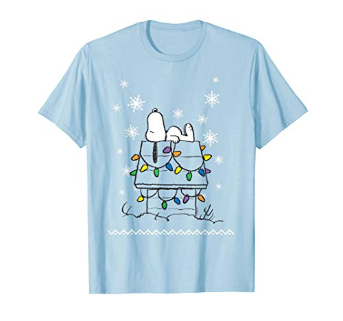 Peanuts Snoopy Dog House Lights T-shirt for Men, Women, Youth, 5 Colors