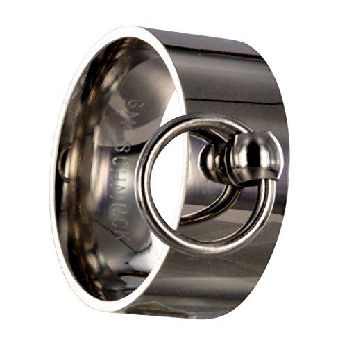 GM-SCHMUCK Edelstahl Ring der O, silber, 10 Millimeter, BDSM Gr 76