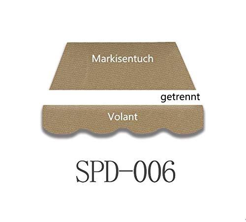 Home & Trends Preiswert Markisen Tuch Markisenbespannung Ersatzstoffe Diverse Fraben Maße 4 x 3 m Markisenstoffen inkl. Volant fertig genäht mit Bordeux (SPD006)