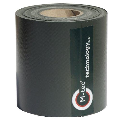Sichtschutzstreifen M-tec Profi-line ® | PVC | anthrazit ✔ 40m x 19cm ✔ für Gittermattenzaun ✔ | Nach M-tec Technology Rezeptur hergestellt -