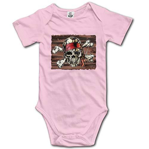Abigails Home Combi-Short bébé bébé Barboteuse bébé garçon Pirate Bandana pour Nouveau-né garçon pour Enfant(0-3M,Rose)