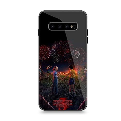 Tempered Glass Back Cover and Soft TPU Frame Compatible for Samsung Galaxy S10 S10E S9 S8 Plus Note 8 9 10+Stranger Things (G2,for Samsung Note 9)