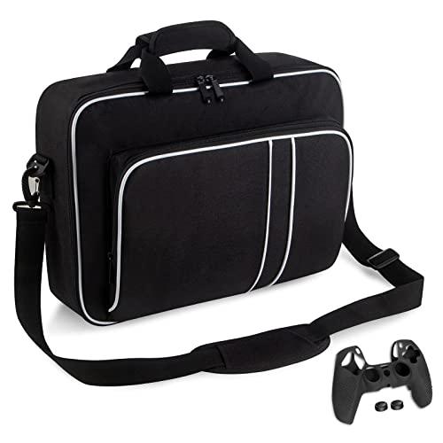 Bolsa PS5, Marvelights Ravel Storage Bolso Portátil Hombro con Correa de Hombro Ajustable Bolsa de Hombro Protectora PlayStation Adecuada para Consolas y Accesorios PS5