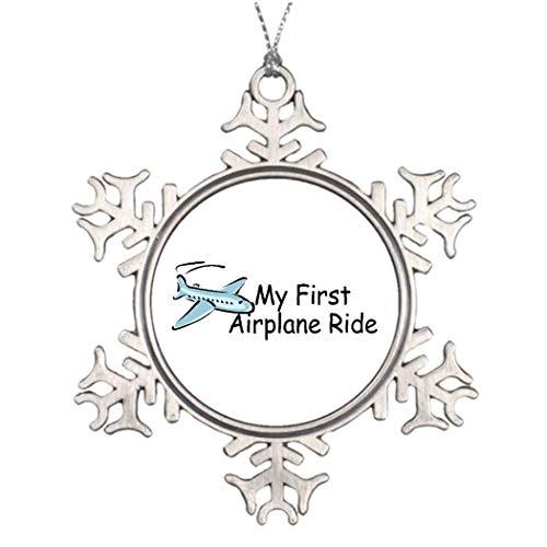 Cukudy Vliegtuig Eerste Vliegtuig Ride Western Vliegtuig Novelty Sneeuwvlok Ornament Kerstmis Decoratieve Boom Kleine Keepsake