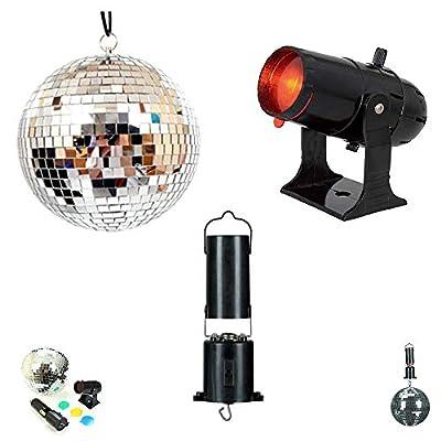 "6"" Silver Mirror Ball, Projector for Mirror Balls & Disco Ball Motor Full Disco DJ Kit Set"