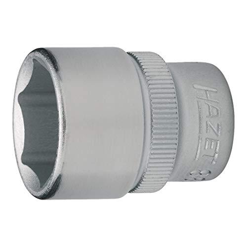 Hazet 990S-16 Douille m/âle /à chocs//carr/é creux 12,5 mm//6 pans ext/érieurs 24 mm//denture multiple int/érieur XZN Taille M16