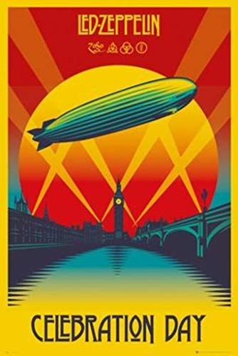 "POSTER STOP ONLINE Led Zeppelin - Music Poster/Print (Celebration Day) (Size: 24"" x 36"")"