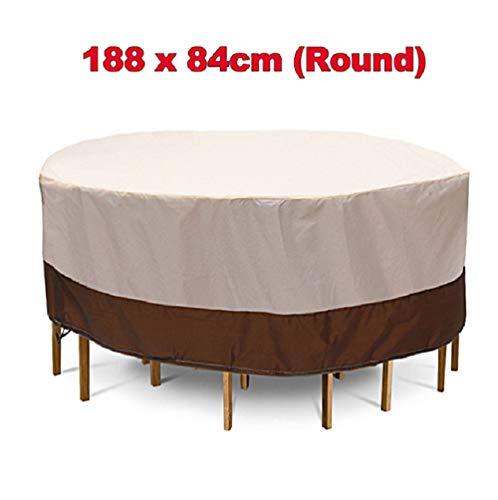 RIYIFER Cubiertas para Muebles De Jardín, Tela Oxford Cubierta para Muebles Impermeable A Prueba De Viento Y Polvo De Nieve, Anti-UV Fundas para Muebles De Patio