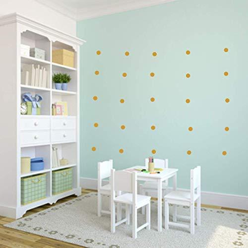 Wandschnörkel ® Wandtattoo Punkte Tupfen Kreise Polka Dots Wandtattoo Möbel Spiegel Fenster Türen Fliesen Aufkleber selbstklebend Kinderzimmer Wohnzimmer Bad.