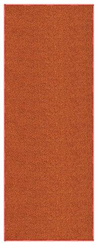 Burnt-Orange Solid Plain Rubber Backed Non-Slip Hallway Stair Kitchen Runner Rug Carpet 22in X 7ft