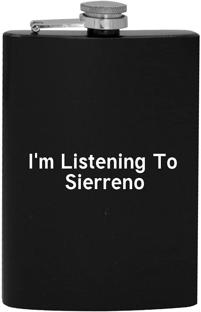 I'm Listening To Fresno Mall Sierreno - Flask 8oz Fresno Mall Hip Drinking Alcohol