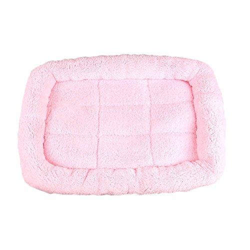 Sccarlettly Asosmos Haustier Bett Kissen Matte Hund Katze Chic Kennel Kiste Cosy Soft House Car Pad Haustiere Produkte Täglich Gebrauch Haustier Produkt (Color : Pink, Einheitsgröße : XXL)