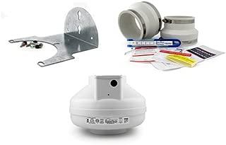 RadonAway RP265 Radon Fan + Installation Kit + Mounting Bracket