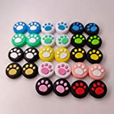 Silicone Joystick Thumb Grips Grip Cover Thumbstick Cap for Nintendo Switch Lite Console for Joy-Con Controller Joystisck Thumb Grip Cap Cat Paw Claw (Green On White)