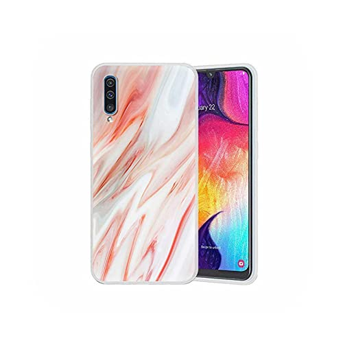 Funda translúcida para Samsung Galaxy A50 A51 A70 A71 S20 FE A10 A20e A30 A40 Funda de teléfono suave moda mármol-S04-para Samsung A51