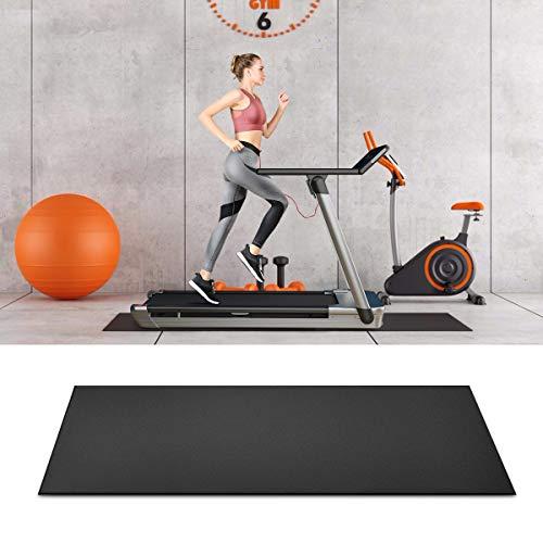GOPLUS Schutzmatte rutschfest, Unterlegmatte für Laufband, Bodenschutzmatte beim Training, 198×91 cm, Rollbar, Dient auch als Fitnessmatte,...