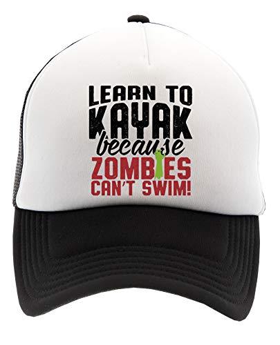 Zombies Can't Swim Learn To Kayak Apocalypse Gorra de Béisbol Unisex Hombre Mujer Adulto Ajustable Cap Men's Woman'S Adult Adjustable