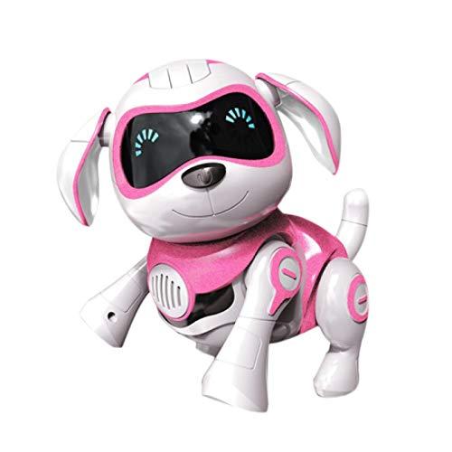 RETYLY Robot Dog Electronic Pet Toys Robot Puppy Smart Sensor Will Walk Talking Remote Dog Robot Pet Toy for Kids Boys Girls Pink