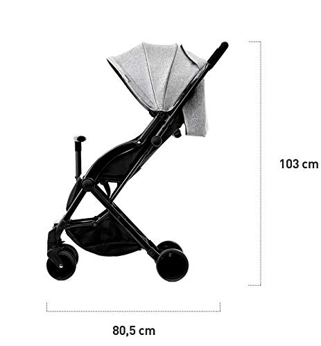 Kinderkraft Pilot light stroller, buggy stroller, child buggy, folding KinderKraft An innovative folding system, with a shoulder strap for easy transport The set contains: Modern barrier, shopping basket under the seat, foot protection, rain cover and cup holder. High quality stored, rubber wheels - all muffled. 8