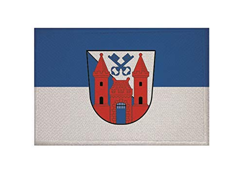 U24 Aufnäher Ladenburg Fahne Flagge Aufbügler Patch 9 x 6 cm