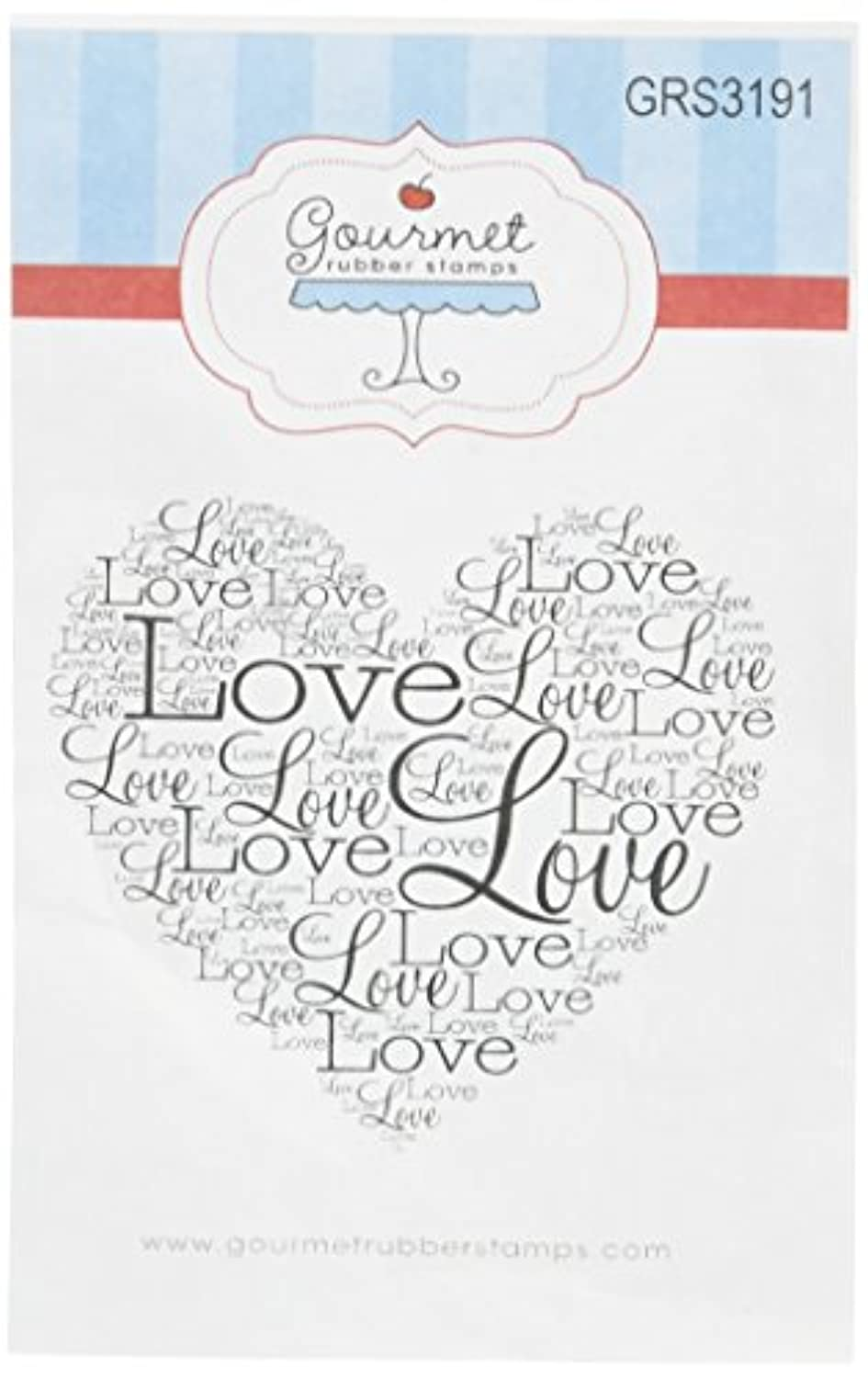 Gourmet Rubber Stamps Work Love Heart Cling Stamps, 2.75 x 4.75