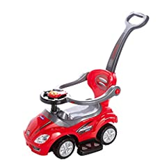 LIGHT & STRONG: weighs only 7 lbs yet supports up to 50 lbs, with 3 bold colors to choose from. It's the perfect ride for a child between 2 & 6 years old! EASY MANEUVERABILITY: a big steering wheel and sturdy tires make it a cinch to move around. You...
