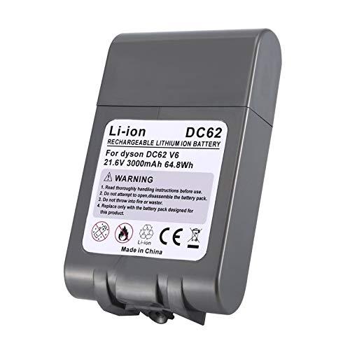 Lynn025Keats DC62 V6 - Batería de ion de litio para aspiradora Dyson DC58 V6 DC59 DC61 DC62 DC74 SV09 SV07 SV03 (21,6 V, 3000 mAh)