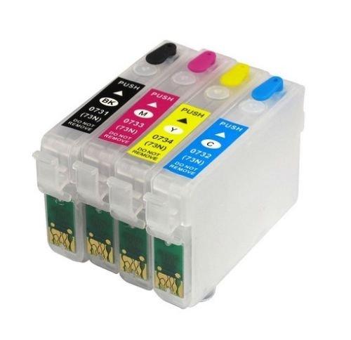 Kataria Epson 73n Refillable Empty Ink Cartridges For All Epson Printers Inkjet Printers