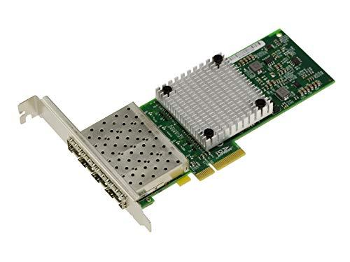 Kalea Informatique - Tarjeta controladora PCIe Reseau 1G SFP de 4 puertos de fibra óptica - Chipset Intel I350AF4 Quad Gigabit LAN Ethernet