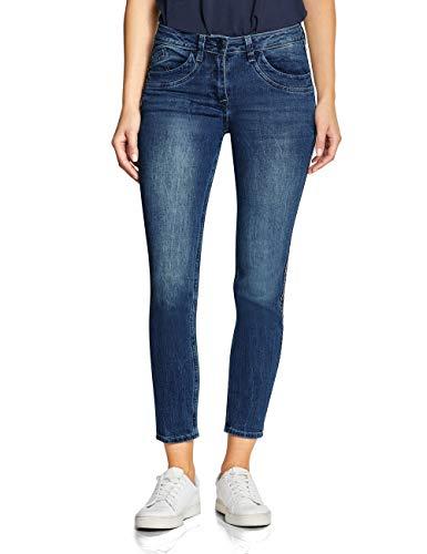 CECIL Damen 372400 Charlize Slim Fit Straight Jeans, Mehrfarbig (mid blue wash 10284), W31/L28 (Herstellergröße:31)