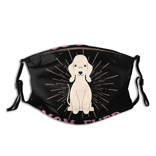 Best Bedlington Terrier Mom Dog Printed Reusable & Washable Face Protection with 2 Filter Breathable for Men Women & Teenage Ourdoor Indoor