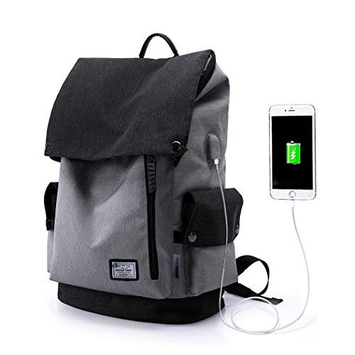 WindTook Laptop Backpack for Women and Men Travel Computer Bag School College Daypack with USB Charging Port Suits 15 Inch Notebook 2238-Gray